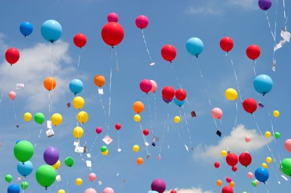 since i was a little girl i have been afraid of balloons for fear of accidentally letting one slip through my fingers and inadvertently causing the