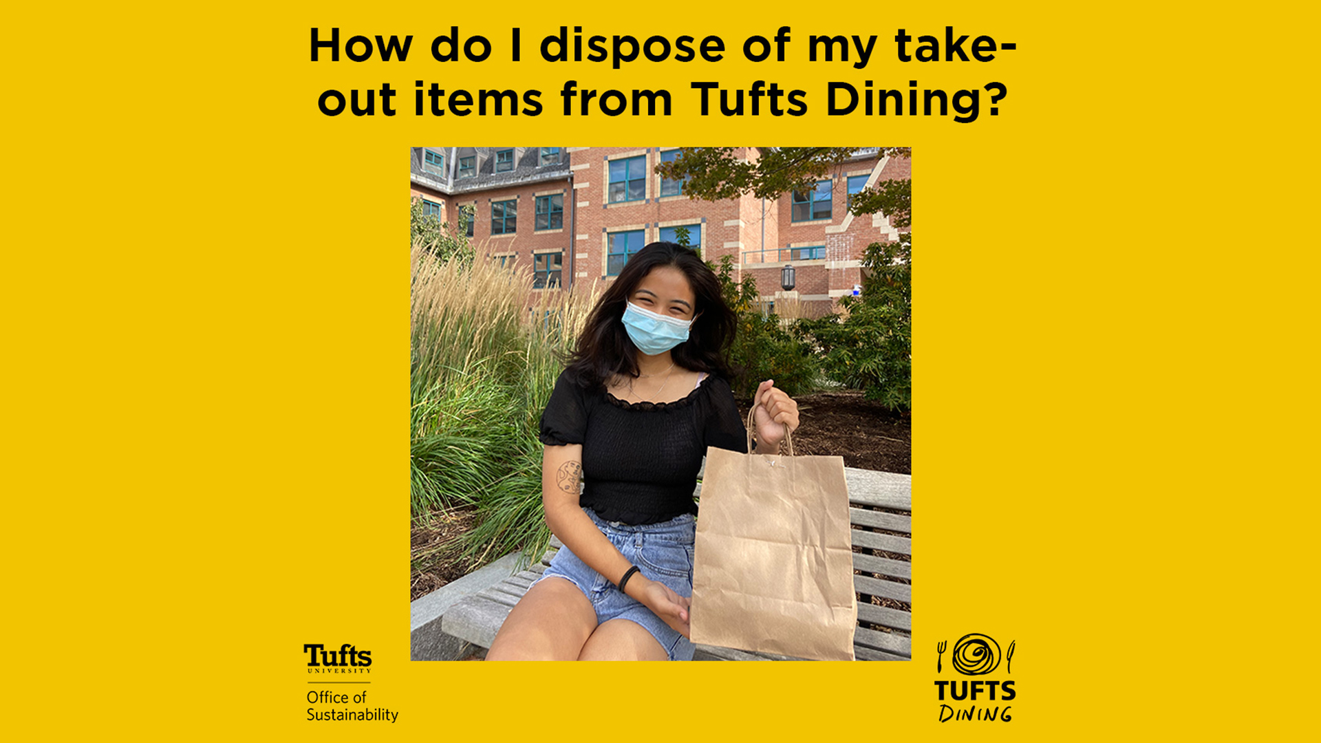 Learn How to Properly Dispose of Your Takeout Items from Tufts Dining!