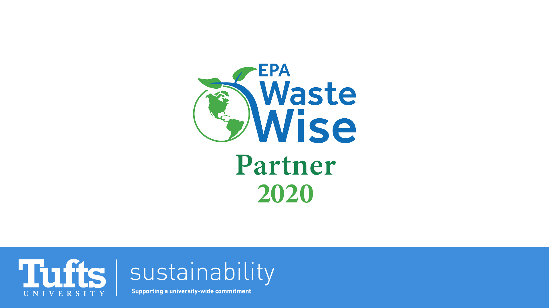 Tufts Recycling is now an official partner of the EPA's WasteWise Program!