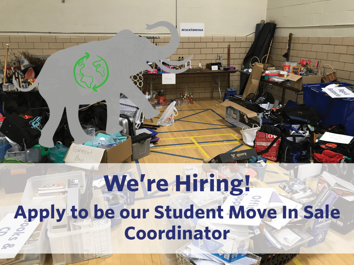 We're Hiring! Apply by 3/8 to be our Student Move In Sale Coordinator