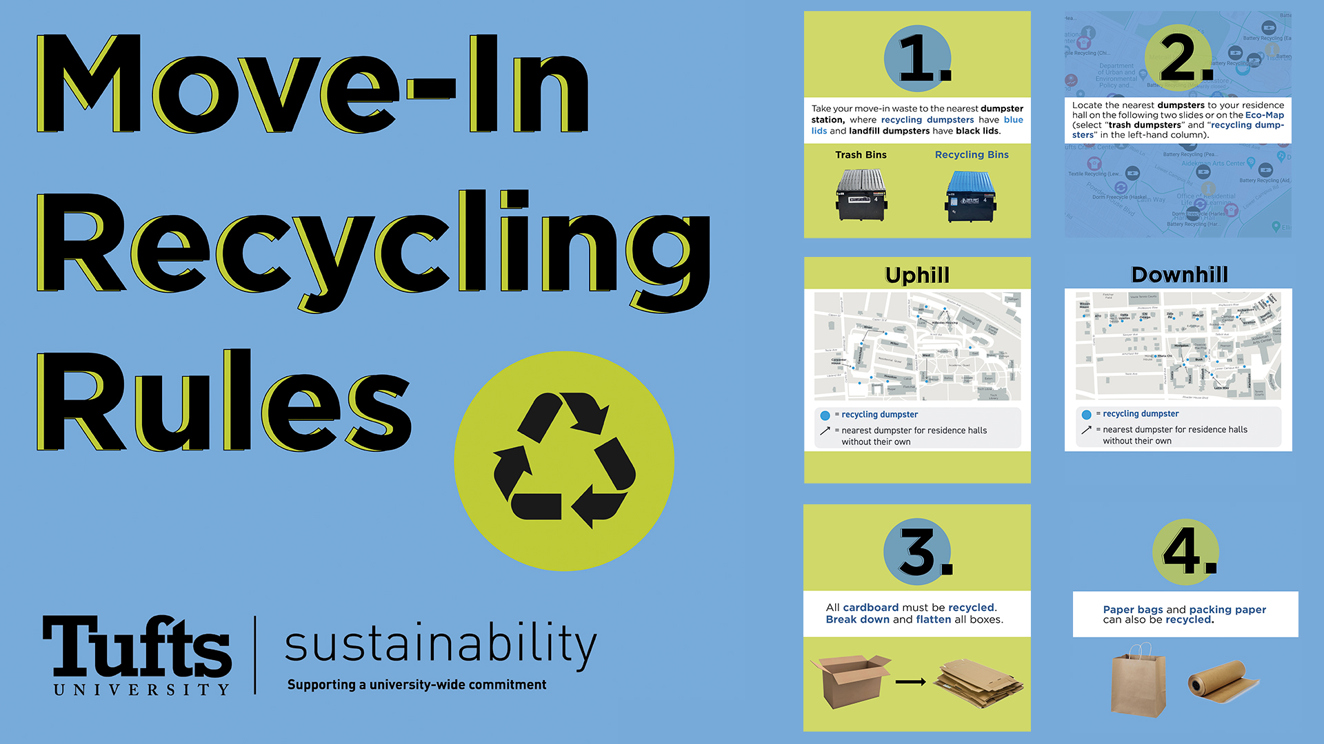 Moving In? Learn the Tufts Move-In Recycling Rules!