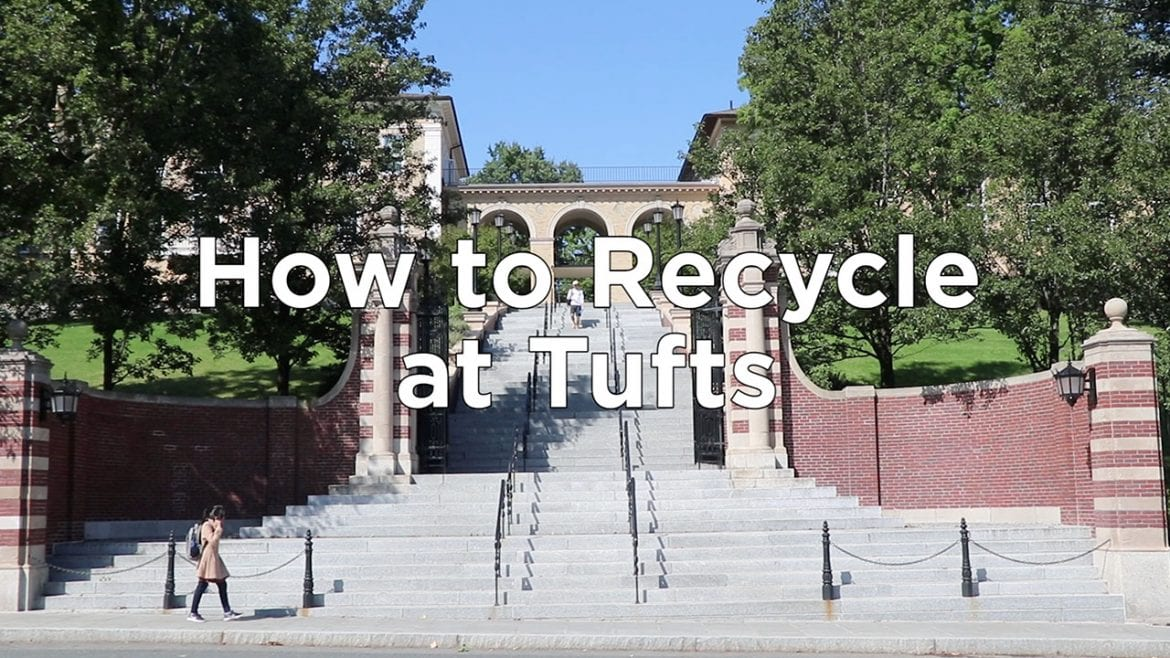 How to Recycle at Tufts