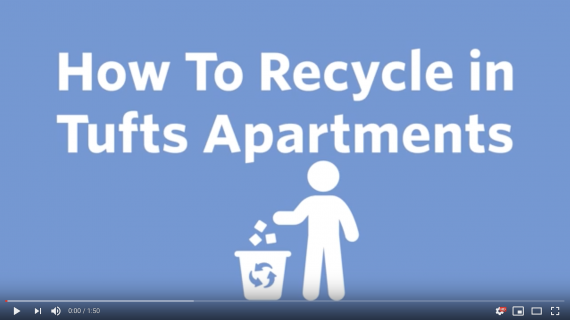 Video: How to Recycle in Tufts Apartments